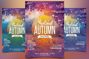 Fall Festival - Autumn PSD Flyer