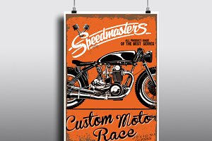 Race print vector set