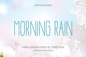 Morning Rain Dot Font