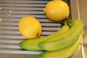 banana and lemon fruit food