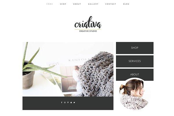 WordPress Minimal Themes: Kelly Brito - Wordpress Theme & Brand Suite