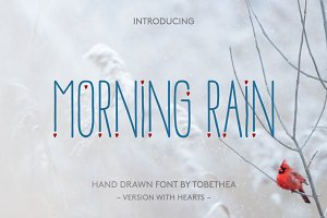 Morning Rain Heart Font