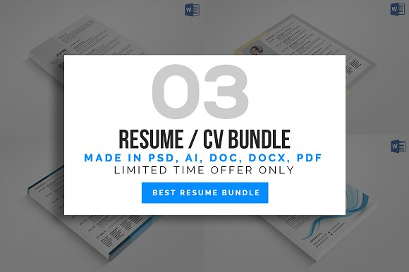 3 Resume Cv Bundle