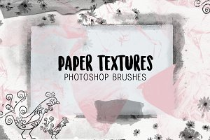 Paper Textures photoshop brushes