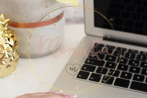 Styled Stock Photo Feminine Desktop