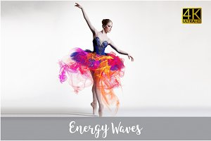 4K Energy Waves Overlays