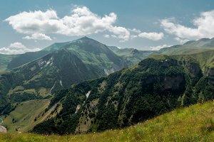 Georgian mountines panoramic wiew