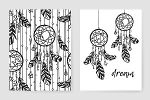 Gypsy dreamcatchers + pattern