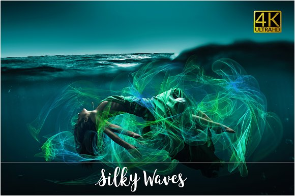 4K Silky Waves Overlays