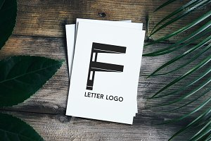 Letter F Alphabetic Logo Set