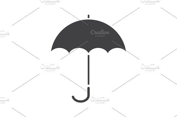 Umbrella Glyph Icon