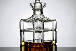Decanter of whiskey