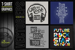 Vectors music rock t-shirt graphics