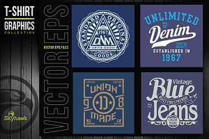 Vectors denim  t-shirt graphics