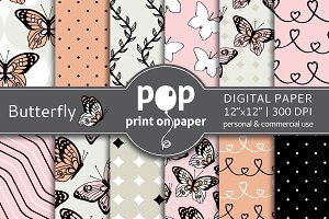 Butterfly Digital Paper