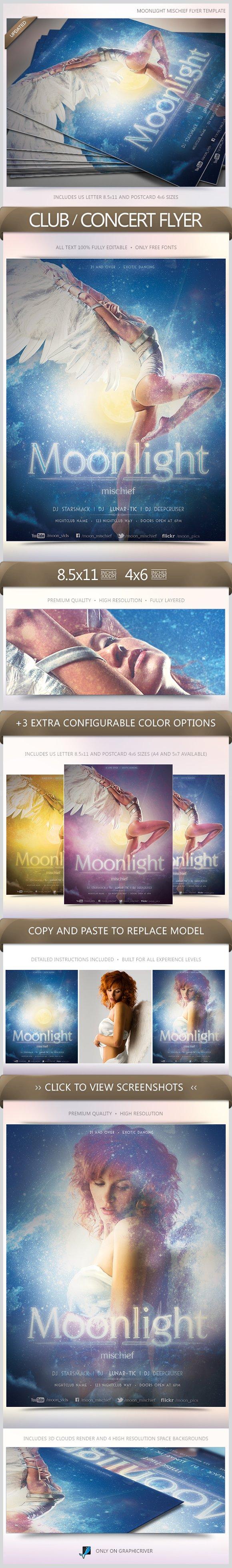Moonlight Mischief Party Flyer