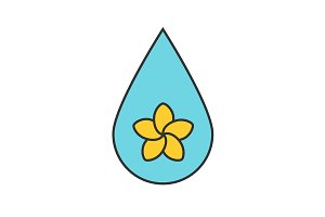 Aromatherapy oil drop color icon
