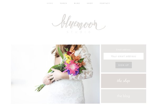 WordPress Wedding Themes: Kelly Brito - Wordpress Theme & Brand Suite