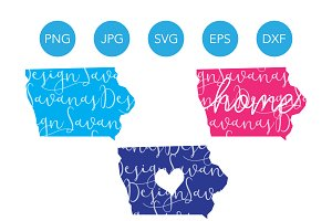 Iowa SVG Cut Files and Clipart