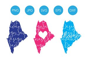 Maine SVG Cut Files and Clipart