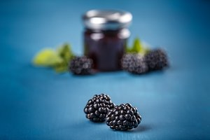 Ripe blackberry fruit