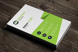 Vertical Business Card Template 05