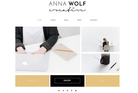 Anna Wolf - Wordpress Theme