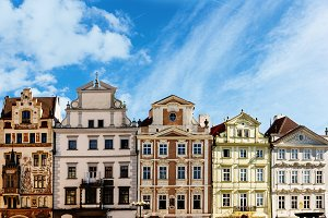 Buildings of Prague. Czech Republic.