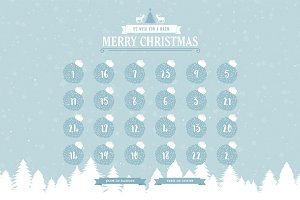 HTML Christmas XMAS Advent Calendar