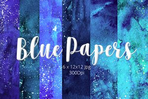 Watercolor Hand-painted Papers