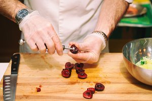 Chef is removing stones from cherry