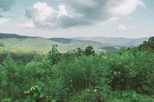 Emerald Green Mountain Landscape
