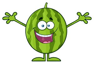 Happy Watermelon With Open Arms