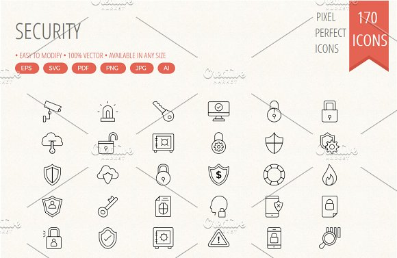 Security Line Icons Vol 2