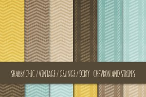 Grunge Chevron and Stripes Patterns