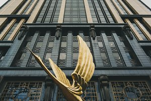Art Deco Bird Statue