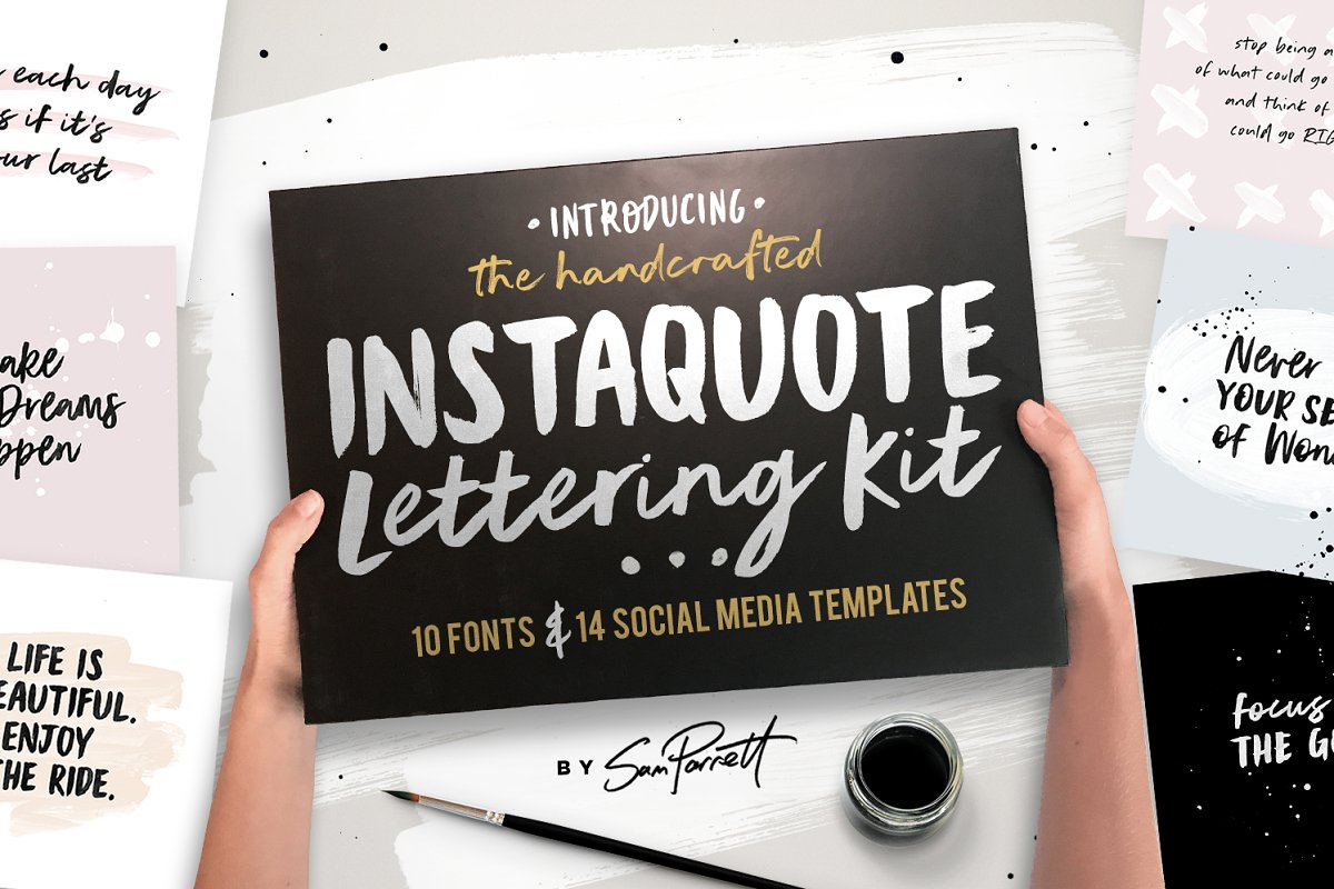 Instaquote Lettering Kit in Lettering Fonts