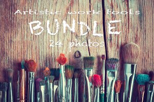 Art tools bundle (24 photos).