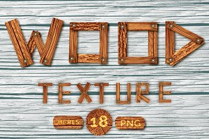 Old Wood | Texture Pack | 18 PNGs