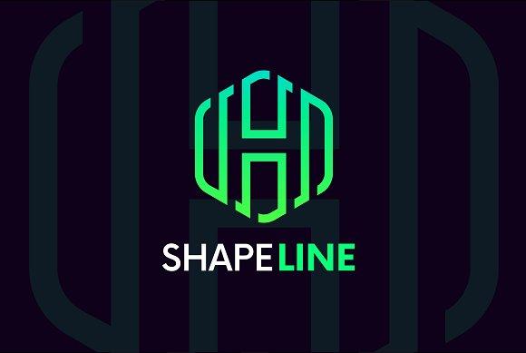 H Letter Linear Logo Icon Emblem