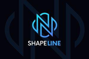 N letter linear logo icon emblem