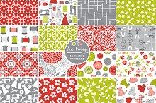 Sew Vintage Seamless Patterns