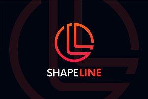 L letter linear logo icon emblem