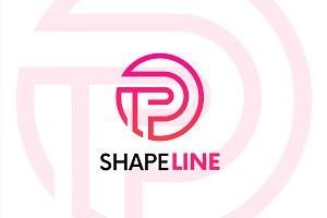P letter linear logo icon emblem