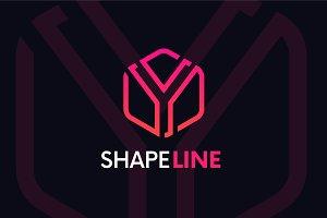 Y letter linear logo icon emblem