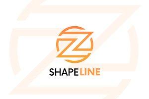 Z letter linear logo icon emblem