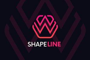 W letter linear logo icon emblem