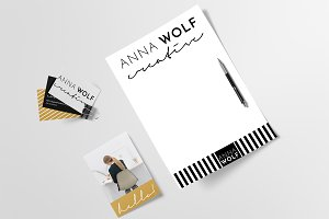 Logo & Brand Kit - Anna Wolf