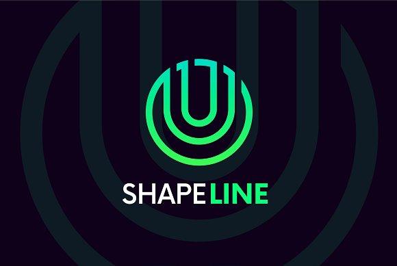 U letter linear logo icon emblem