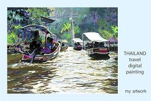 IPAD PAINTING OF THAILAND LANDSCAPE